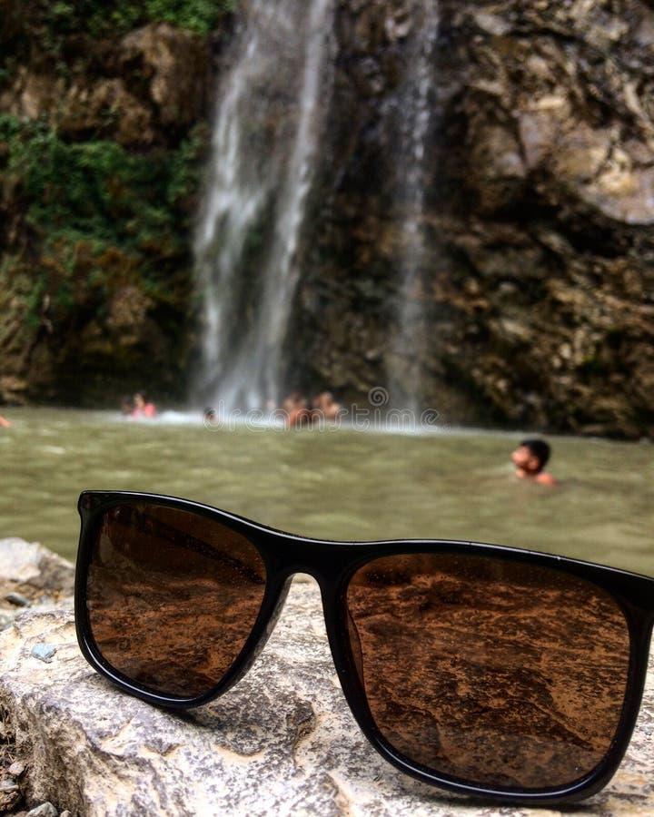 瀑布恰克拉塔北阿坎德邦 图库摄影