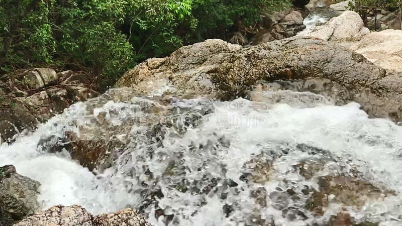 瀑布接近的慢动作 影视素材