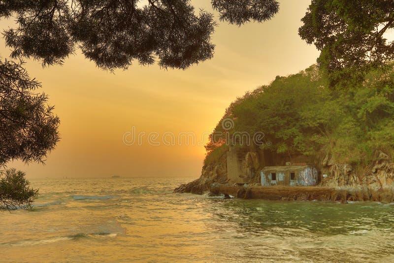 瀑布海湾东博寮海峡公园视图  免版税库存照片