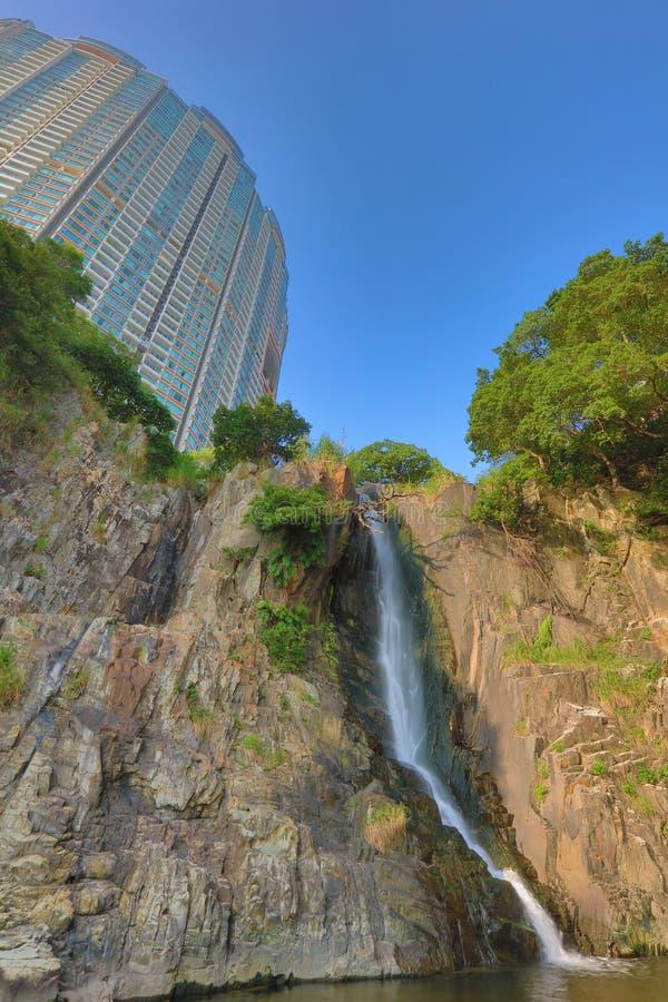 瀑布海湾公园, hk 免版税图库摄影