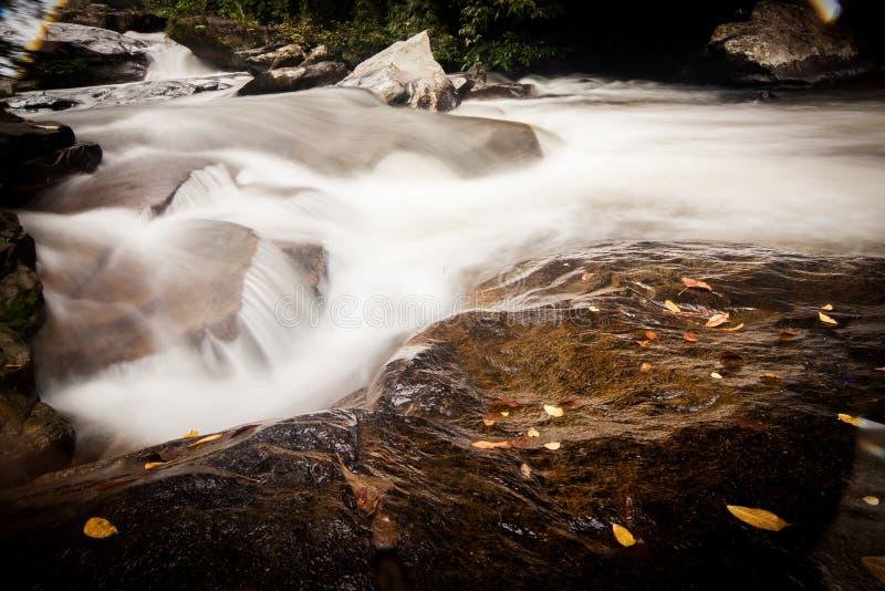 瀑布清迈泰国 免版税库存照片