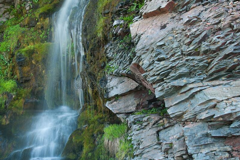 瀑布火山湖国家公园 免版税图库摄影