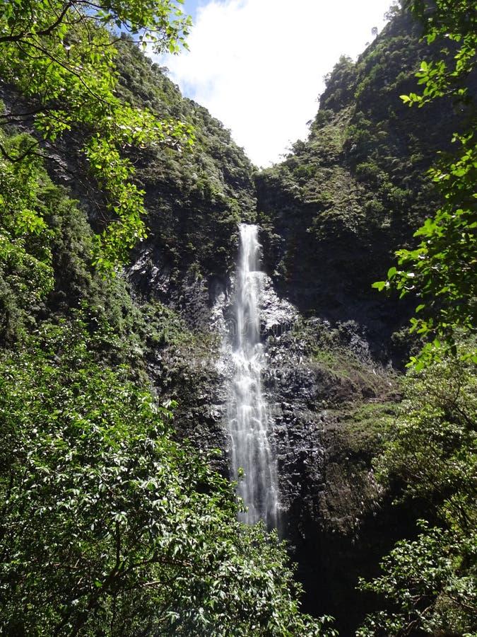瀑布考艾岛 免版税库存图片