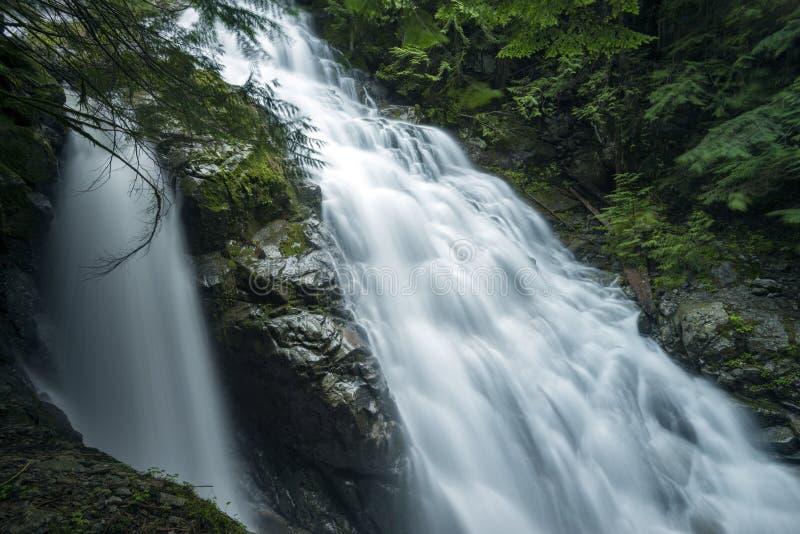 瀑布肯尼迪秋天温哥华, BC,加拿大 免版税库存图片