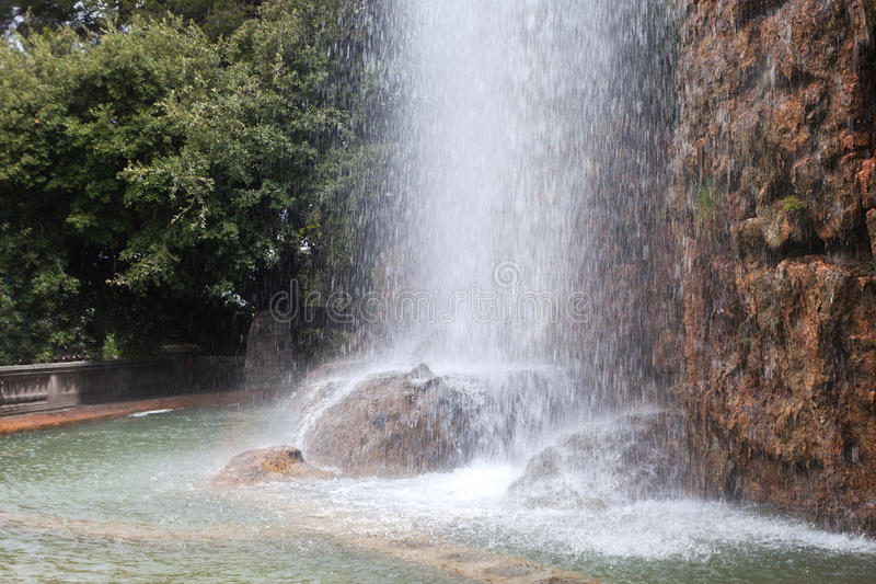 瀑布,尼斯,法国。 图库摄影