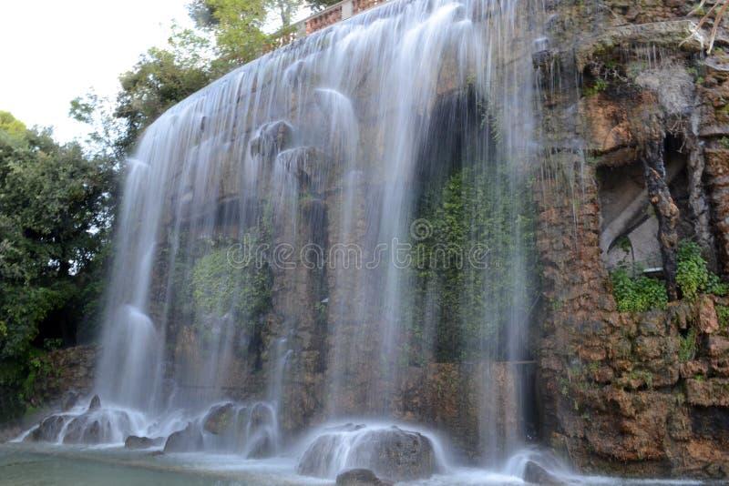 瀑布,尼斯,法国 免版税库存图片