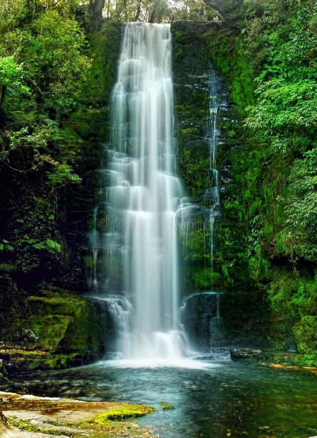 瀑布,新西兰 库存图片