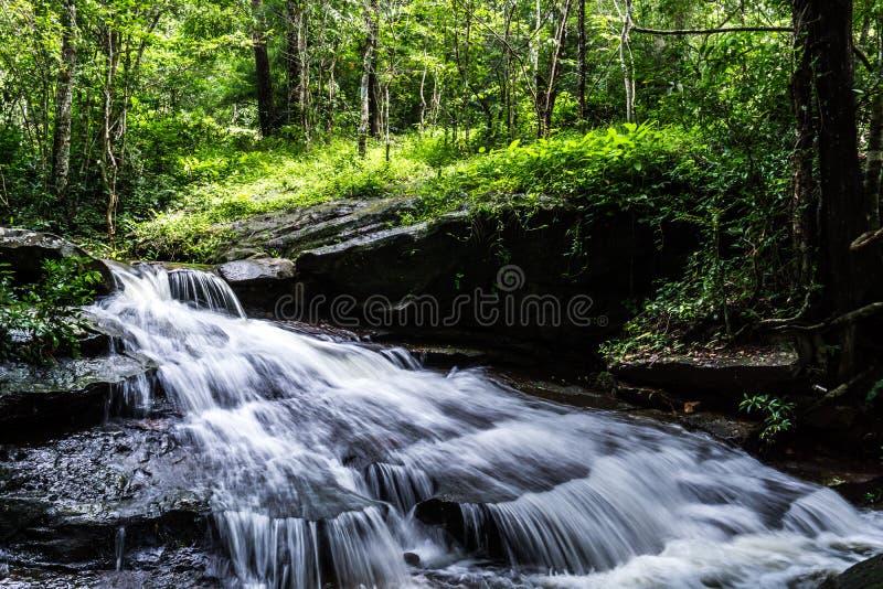 瀑布, Khum索马里兰瀑布, Muang区,左近Nakhon,泰国 图库摄影
