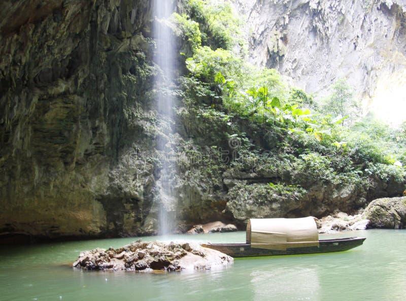 瀑布, linn,秋天,在valleyï ¼ Œgorge的喷口 图库摄影