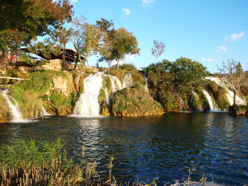 瀑布Paklenica国家公园 免版税图库摄影