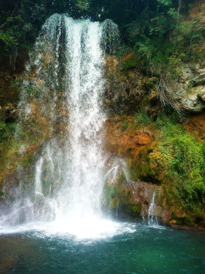 瀑布Veliki Buk,东塞尔维亚 库存照片