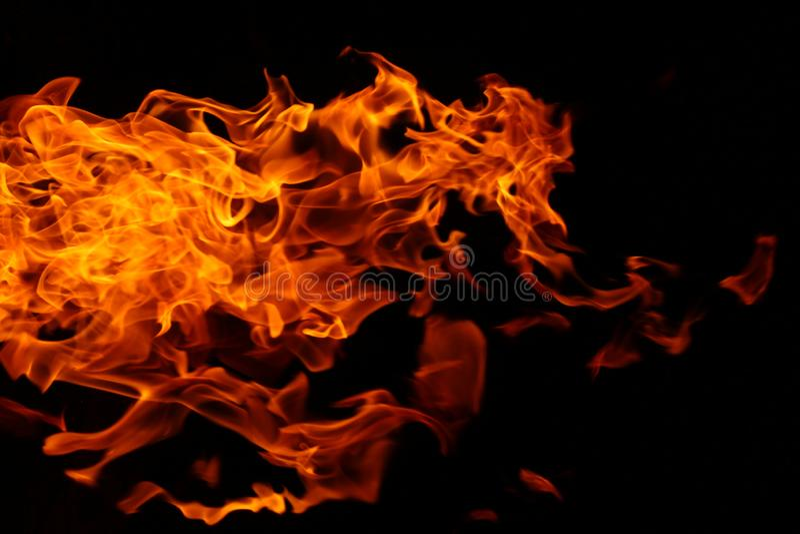 灌木狂放的野营的火抽象背景  免版税库存图片