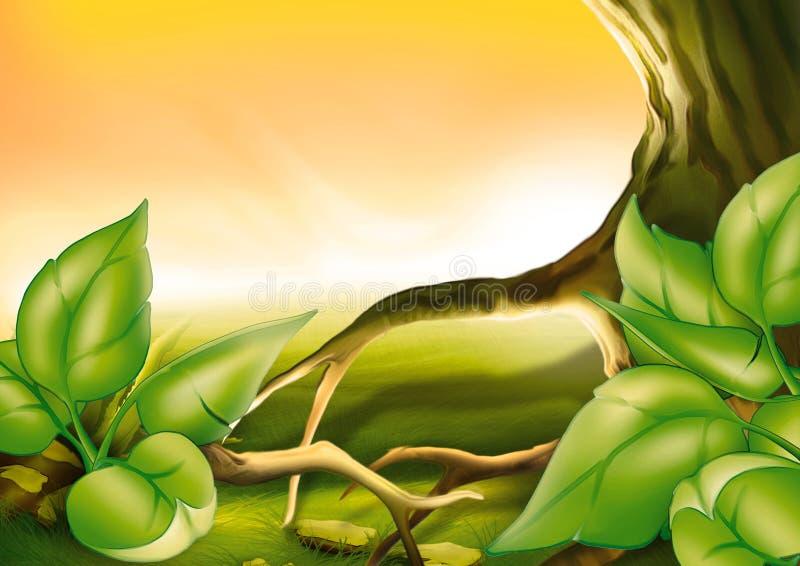 灌木结构树 皇族释放例证