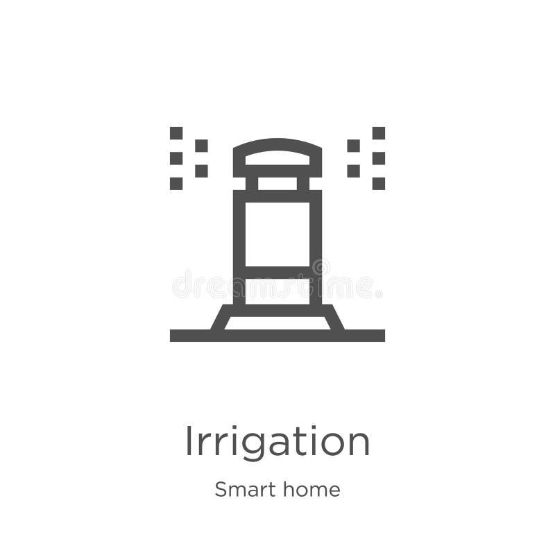 灌溉从聪明的家庭收藏的象传染媒介 稀薄的线灌溉概述象传染媒介例证 概述,稀薄的线 库存例证
