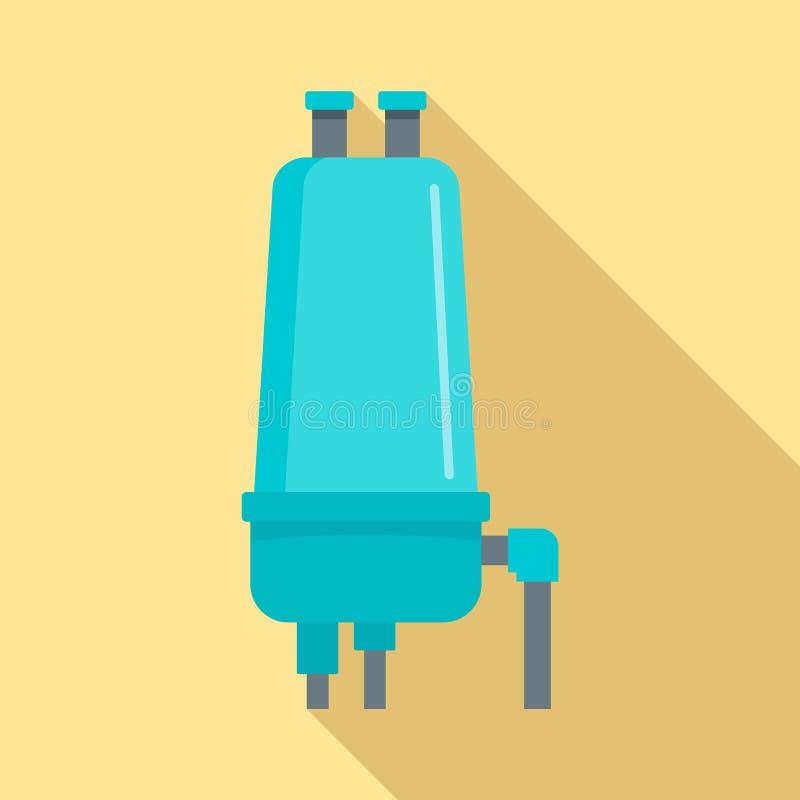 灌溉过滤器象,平的样式 皇族释放例证