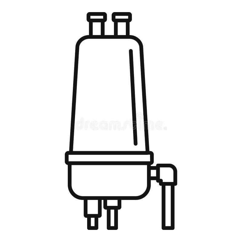 灌溉过滤器象,概述样式 库存例证