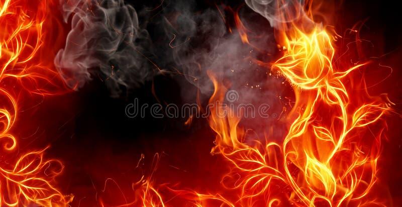火上升了 皇族释放例证