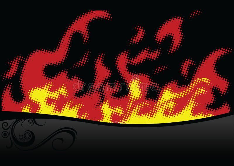 火中间影调 向量例证