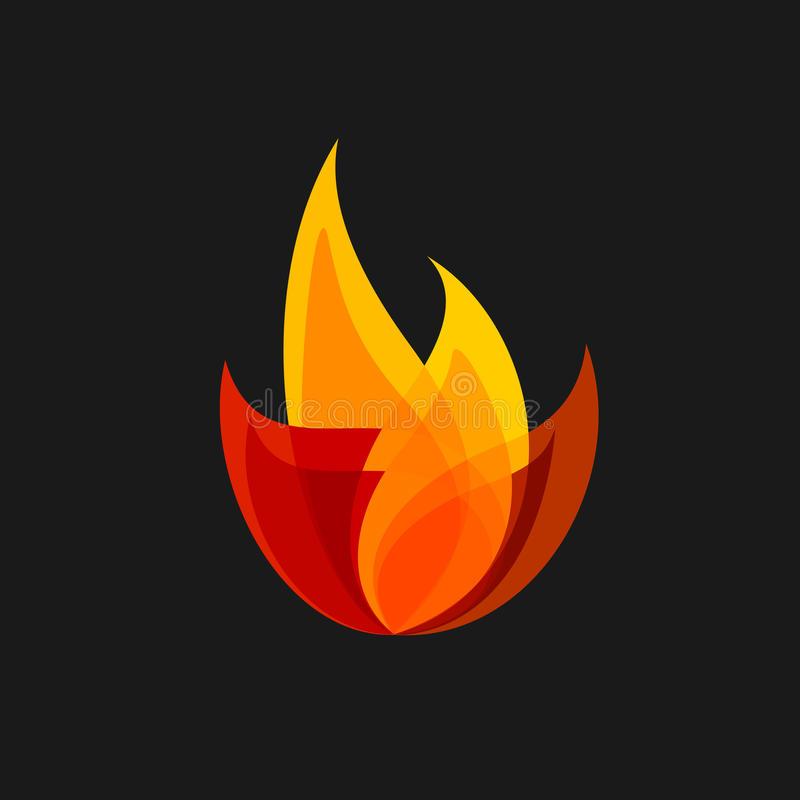 火传染媒介标志 皇族释放例证