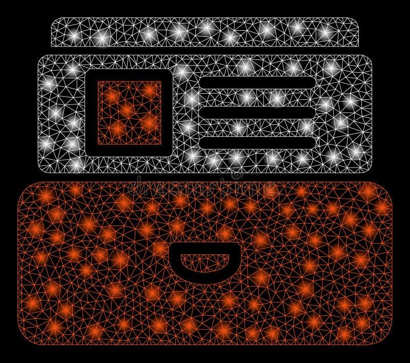 火光滤网导线与火光斑点的框架编目 向量例证