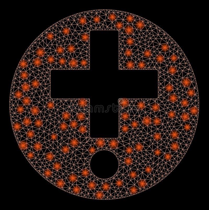 火光滤网导线与火光斑点的框架药房 皇族释放例证