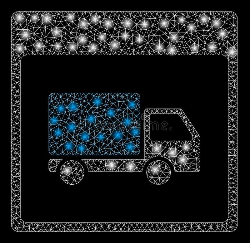 火光滤网尸体发货卡车与火光斑点的日历页 皇族释放例证