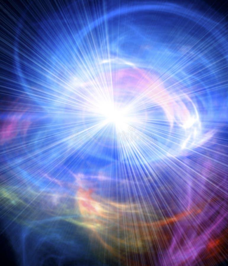 火光空间星形 库存图片