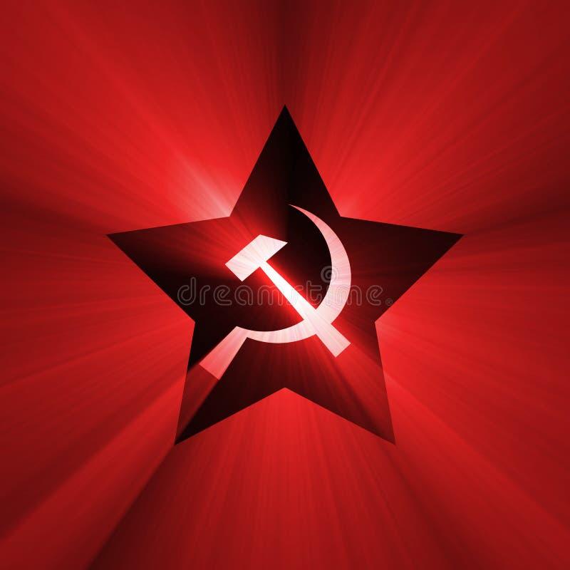火光红色苏联星形符号 库存例证