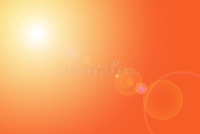 火光透镜 向量例证