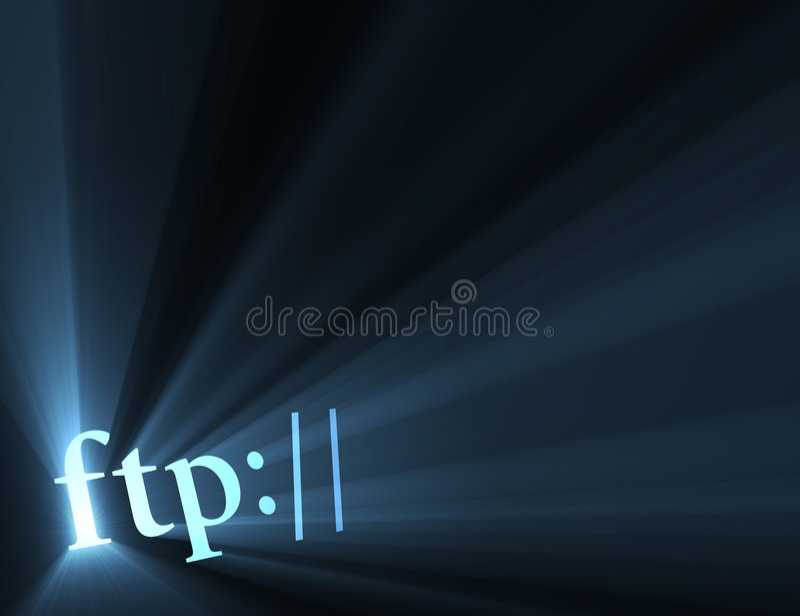 火光ftp亢奋互联网光连结符号 向量例证