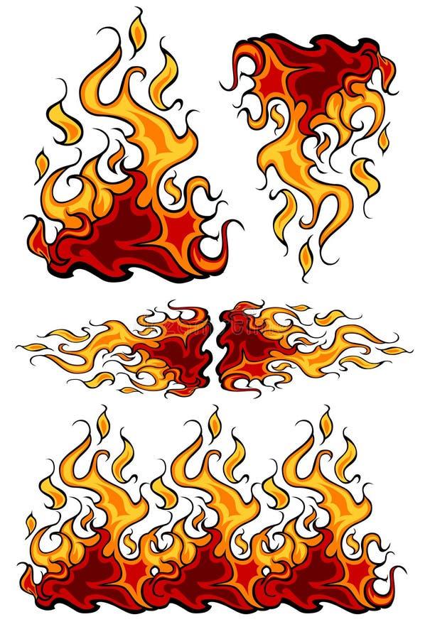 火发火焰图标向量 库存例证