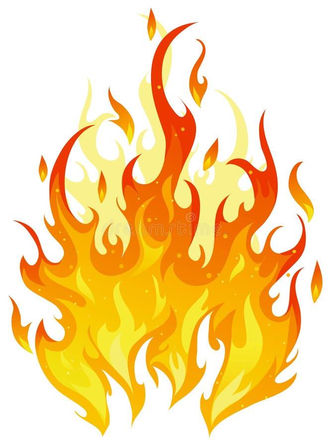 火向量 向量例证