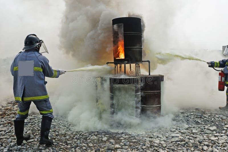 从火和抢救的教导 免版税库存照片