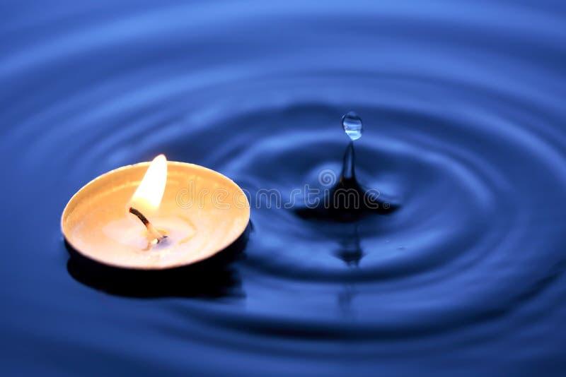 火和水 免版税图库摄影