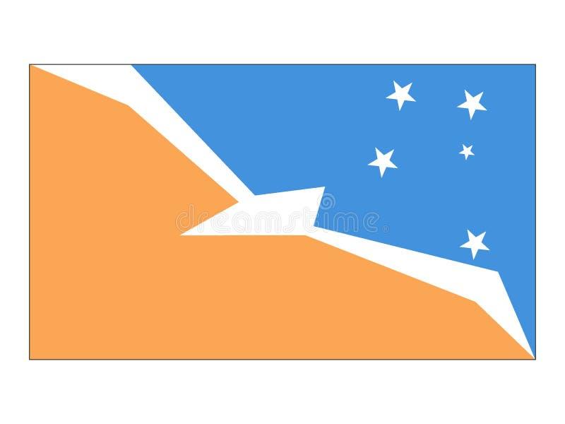 火地群岛旗子  向量例证