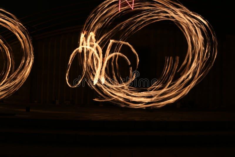 火展示发火焰足迹 免版税库存图片