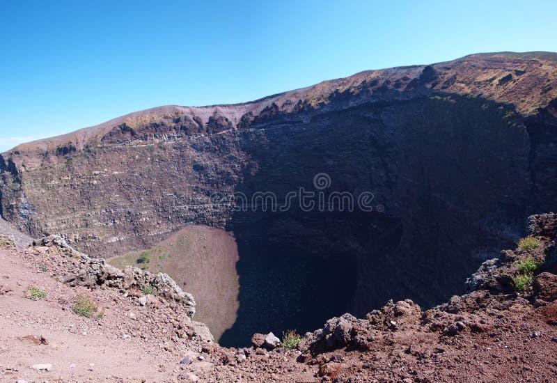 火山口意大利vesuvius 库存照片