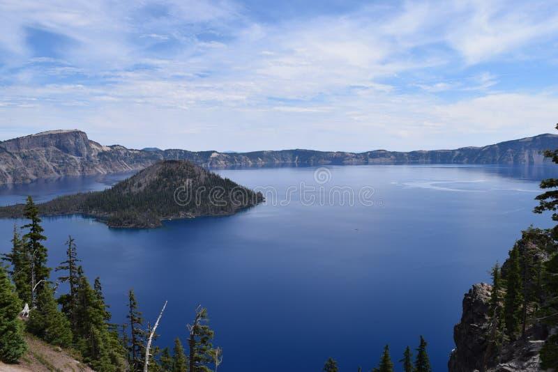2008年火山口湖俄勒冈美国 库存照片