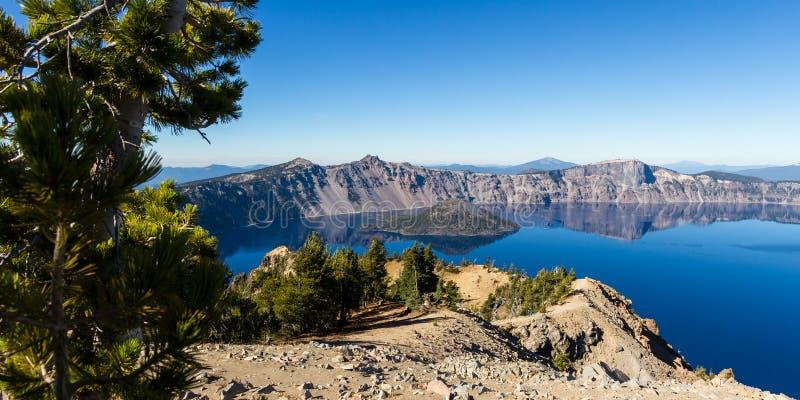 火山口湖俄勒冈 库存照片