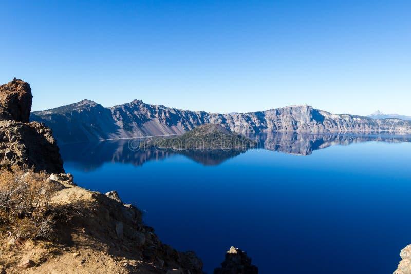 火山口湖俄勒冈 免版税图库摄影