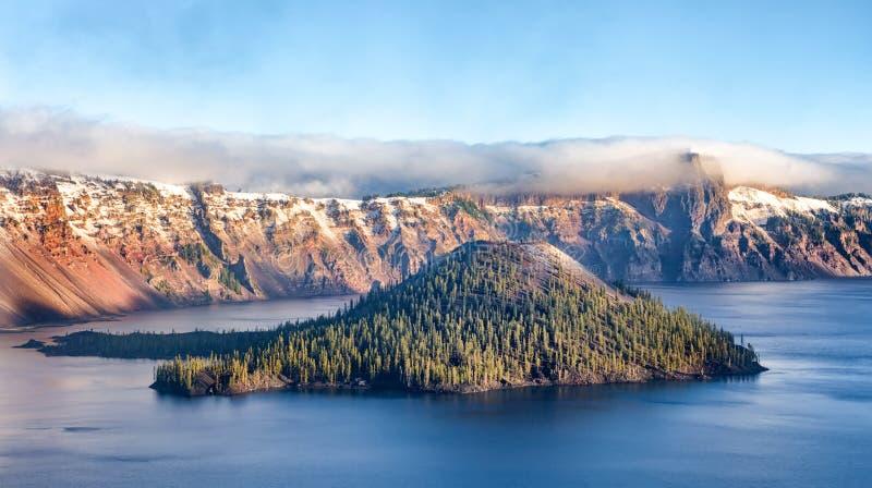 火山口湖国家公园,俄勒冈,美国 库存图片