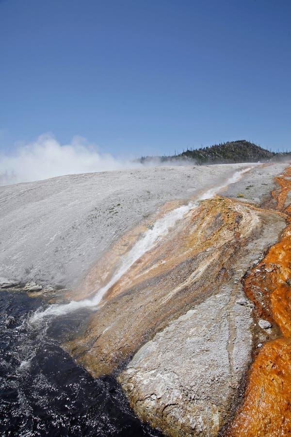 火山口细刨花f喷泉决赛 库存图片
