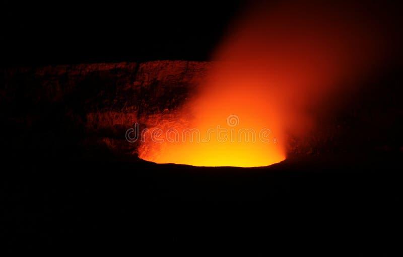 火山口kilauea 免版税库存图片
