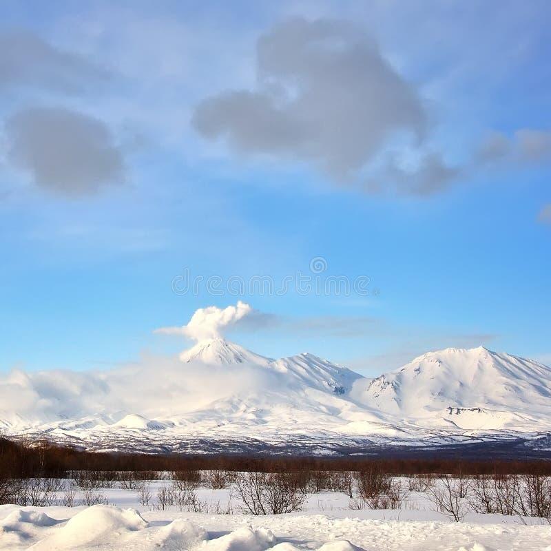 火山在俄国 图库摄影
