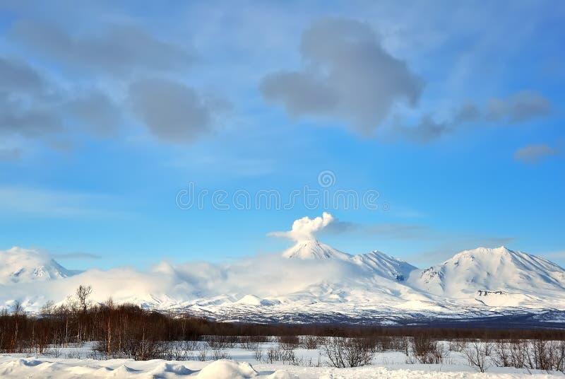 火山在俄国 免版税库存照片