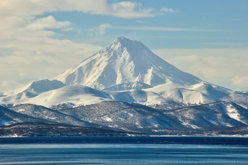 火山在俄国 免版税图库摄影