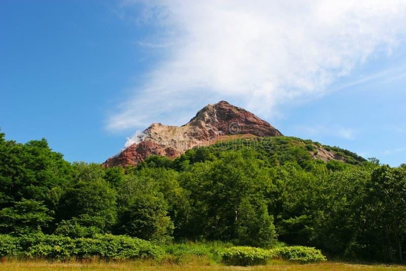 火山在北海道日本 图库摄影