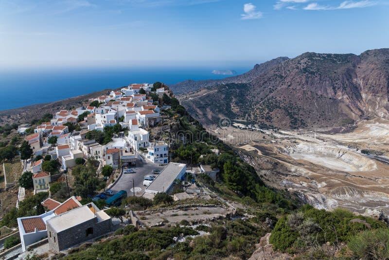 火山在希腊 图库摄影