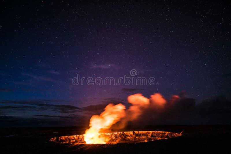 火山夜生活 库存照片