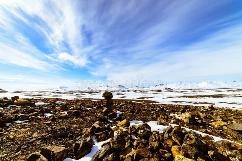 火山岩石,冰岛 库存图片
